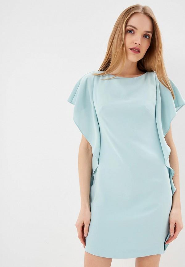 женское вечерние платье lauren ralph lauren, бирюзовое