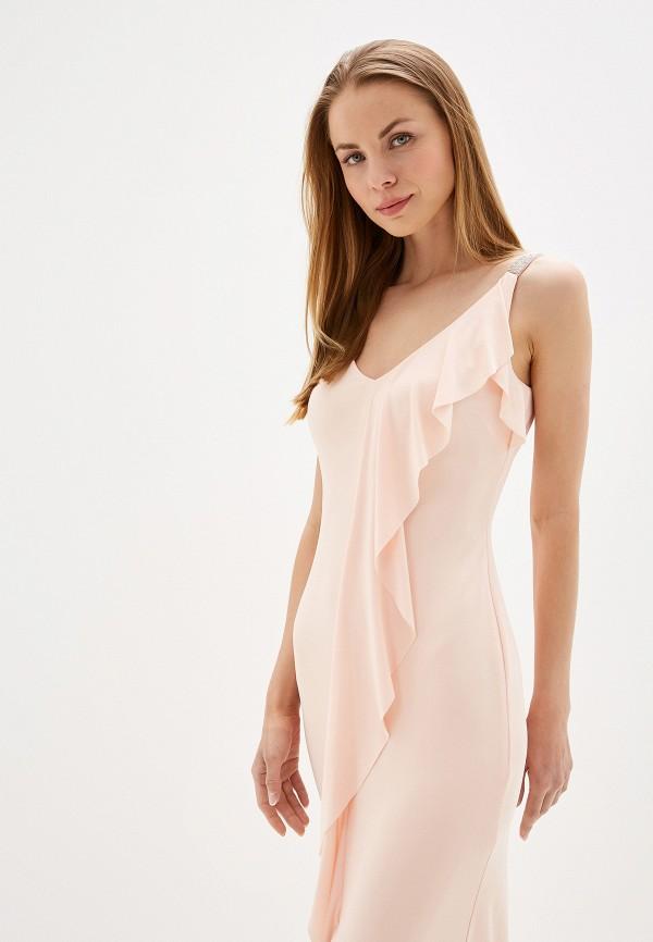 Фото 2 - женское вечернее платье Lauren Ralph Lauren розового цвета