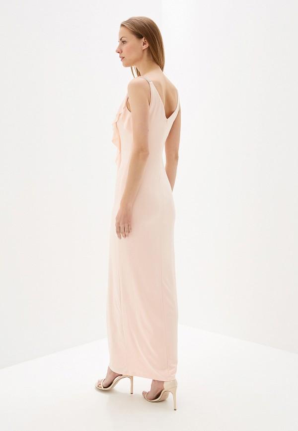 Фото 3 - женское вечернее платье Lauren Ralph Lauren розового цвета