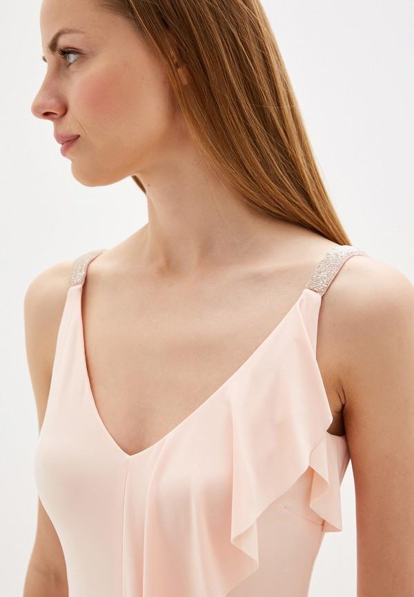Фото 4 - женское вечернее платье Lauren Ralph Lauren розового цвета