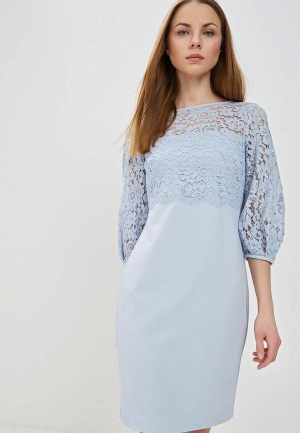 Купить Платье Lauren Ralph Lauren, EVENING DRESSES COLLECTION, la079eweksx9, голубой, Весна-лето 2019