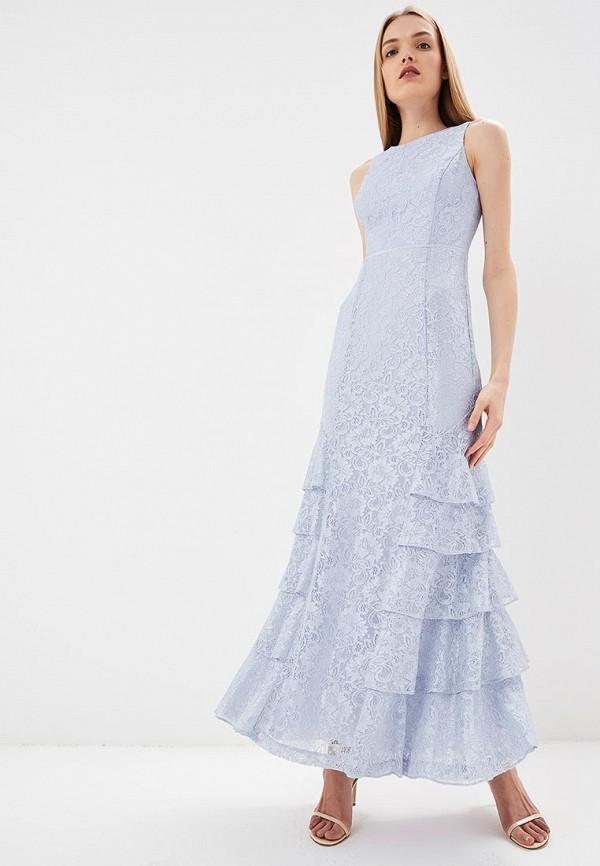 женское вечерние платье lauren ralph lauren, голубое