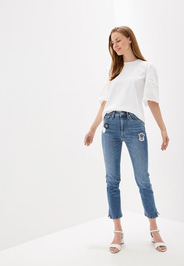 Фото 2 - Блузу Lauren Ralph Lauren белого цвета