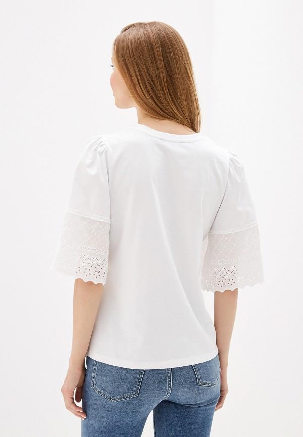 Фото 3 - Блузу Lauren Ralph Lauren белого цвета
