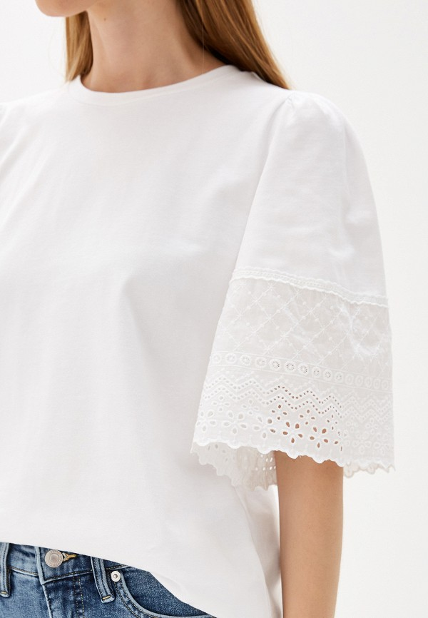 Фото 4 - Блузу Lauren Ralph Lauren белого цвета