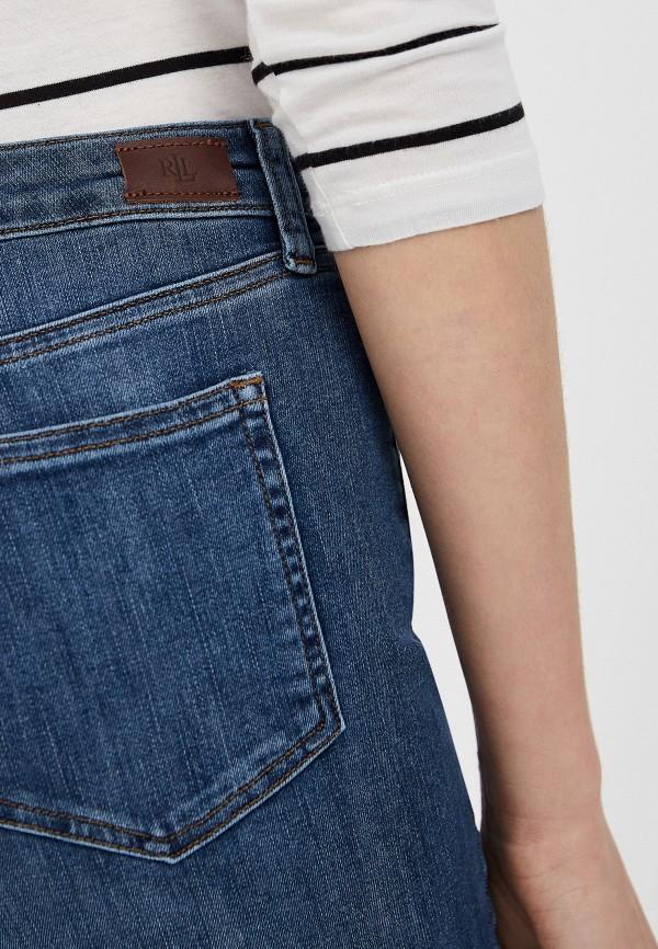 Фото 4 - женские джинсы Lauren Ralph Lauren синего цвета
