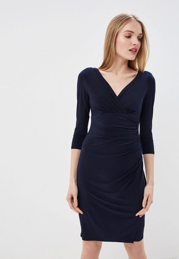 Купить Платье Lauren Ralph Lauren, la079ewezce2, синий, Весна-лето 2019