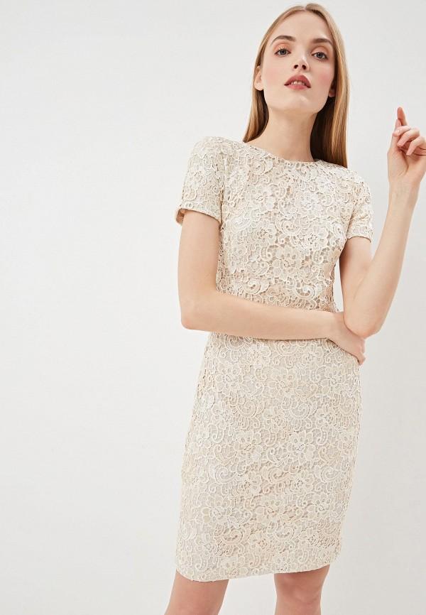Купить Платье Lauren Ralph Lauren, la079ewezcf5, бежевый, Весна-лето 2019