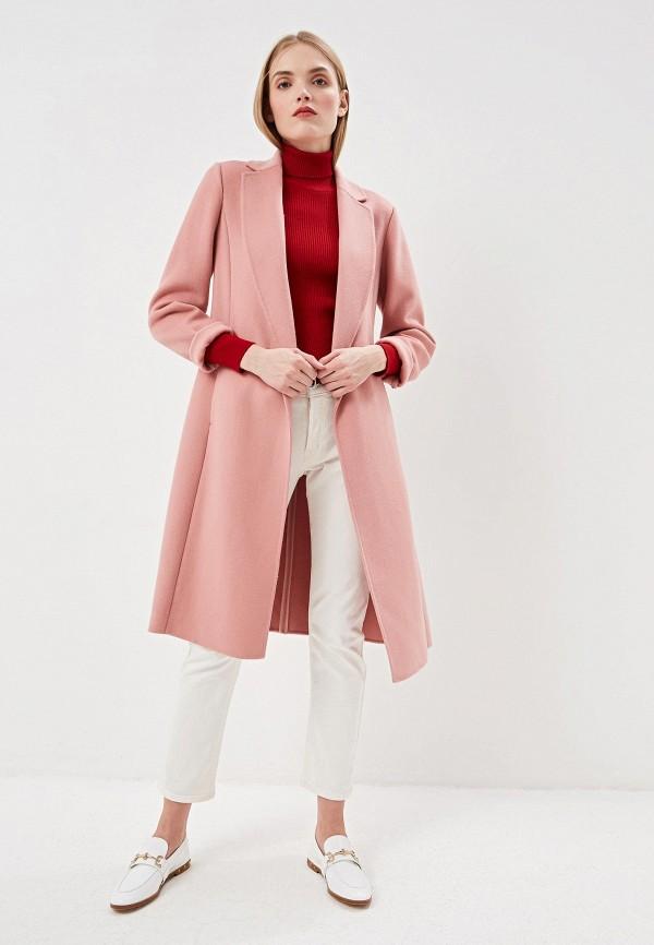 Фото 2 - женское пальто или плащ Lauren Ralph Lauren розового цвета