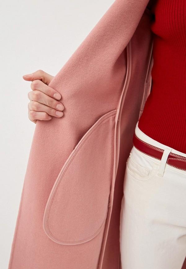 Фото 4 - женское пальто или плащ Lauren Ralph Lauren розового цвета
