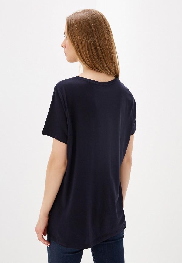 Фото 3 - женскую футболку Lauren Ralph Lauren синего цвета