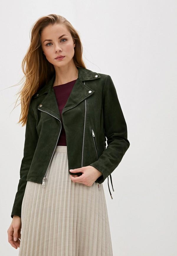 Фото - Куртку кожаная Lauren Ralph Lauren зеленого цвета