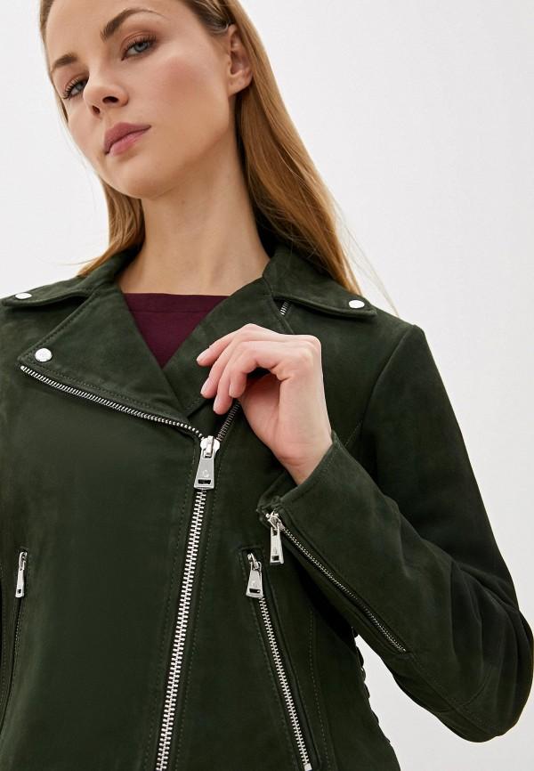 Фото 5 - Куртку кожаная Lauren Ralph Lauren зеленого цвета