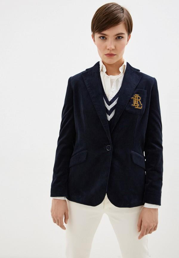 женский пиджак lauren ralph lauren, синий