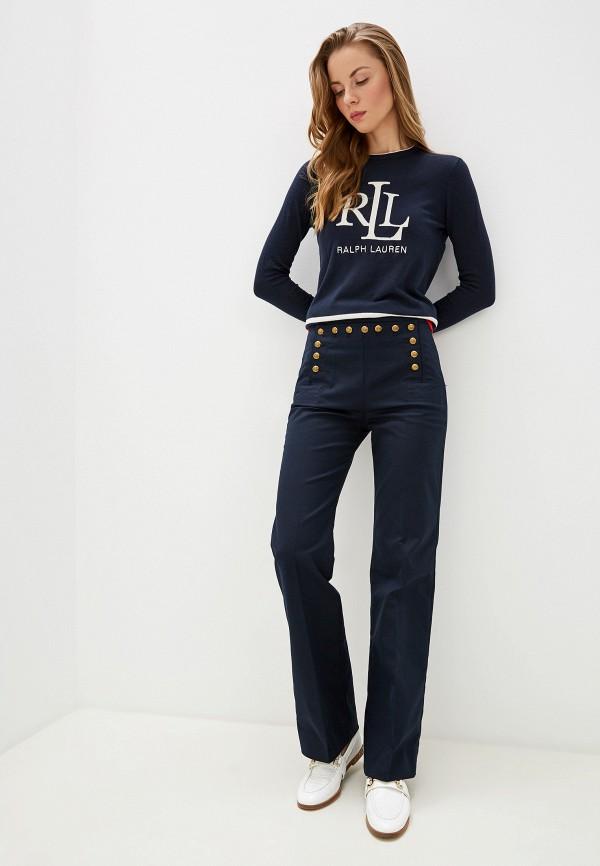 Фото 2 - женский джемпер Lauren Ralph Lauren синего цвета