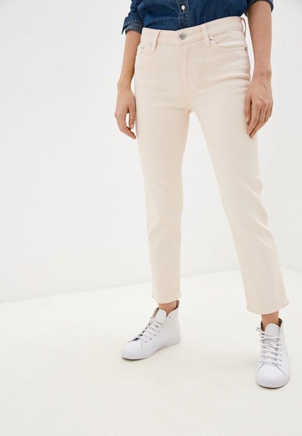 женские прямые джинсы lauren ralph lauren, розовые