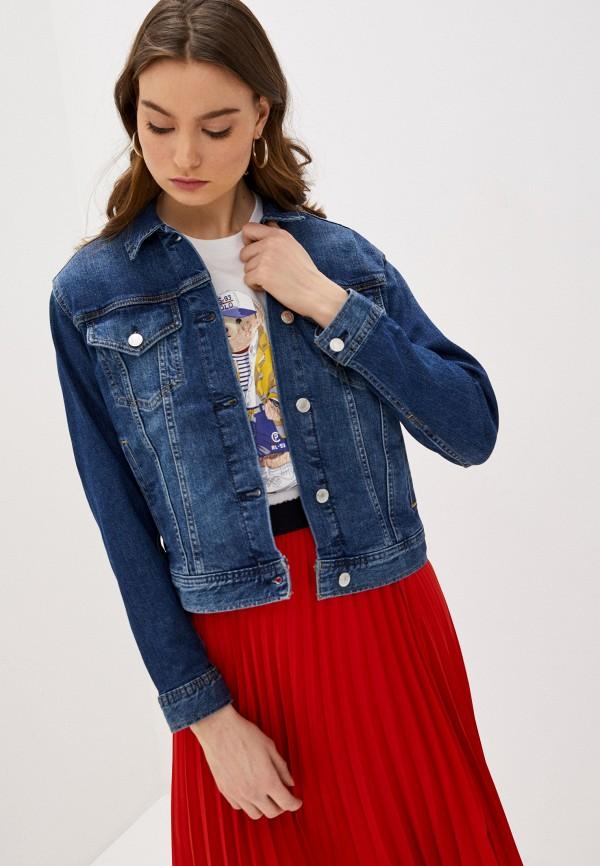 женская джинсовые куртка lauren ralph lauren, синяя
