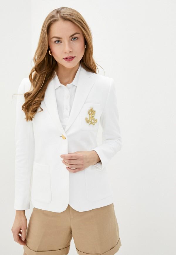 женский пиджак lauren ralph lauren, белый