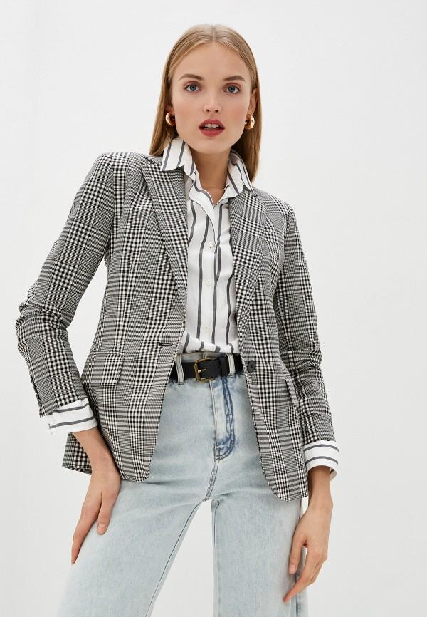 женский пиджак lauren ralph lauren, серый