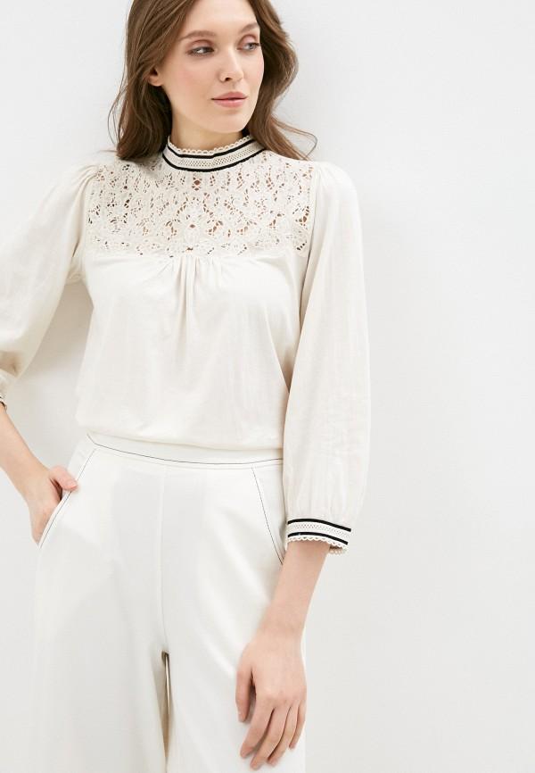 женская блузка lauren ralph lauren, белая
