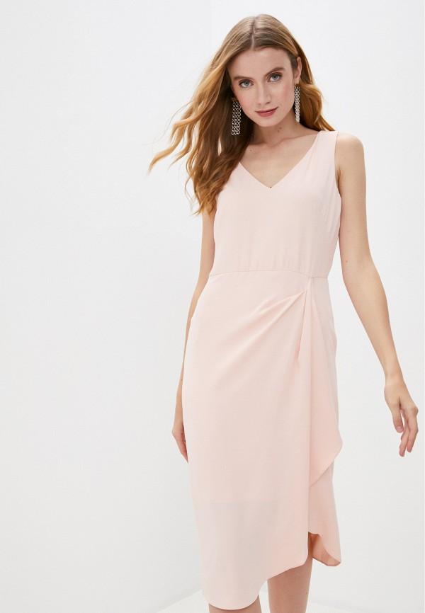 женское вечерние платье lauren ralph lauren, розовое