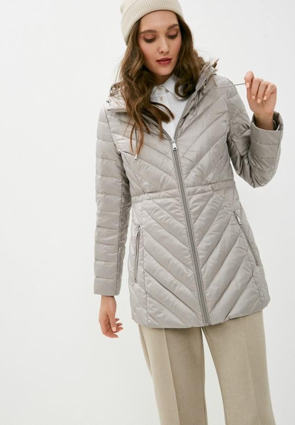 женская утепленные куртка lauren ralph lauren, серая