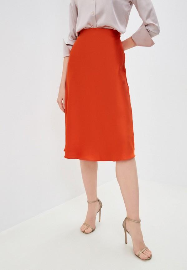женская юбка lauren ralph lauren, оранжевая