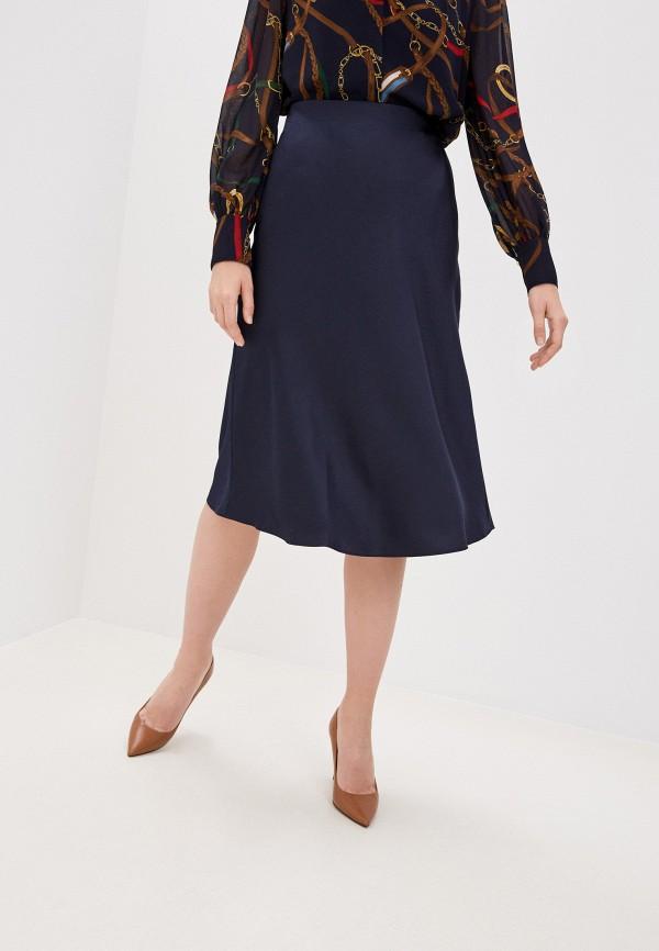 женская юбка lauren ralph lauren, синяя