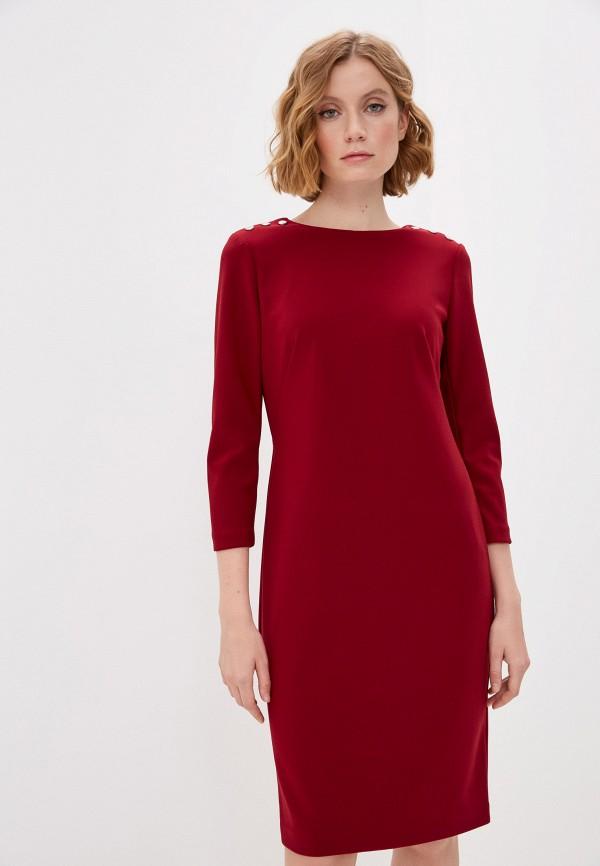 женское повседневные платье lauren ralph lauren, бордовое
