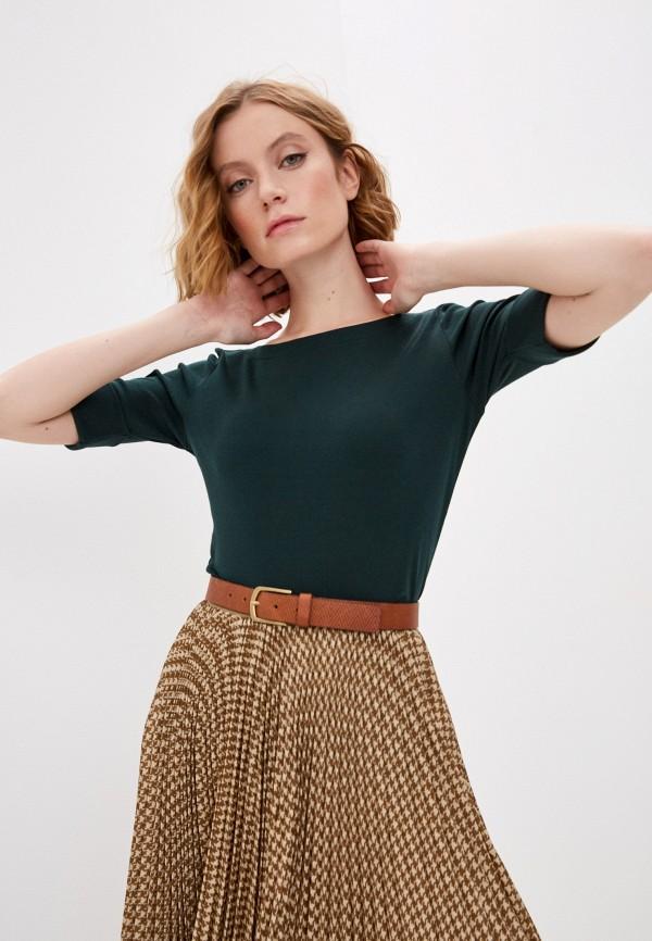 женская футболка lauren ralph lauren, зеленая