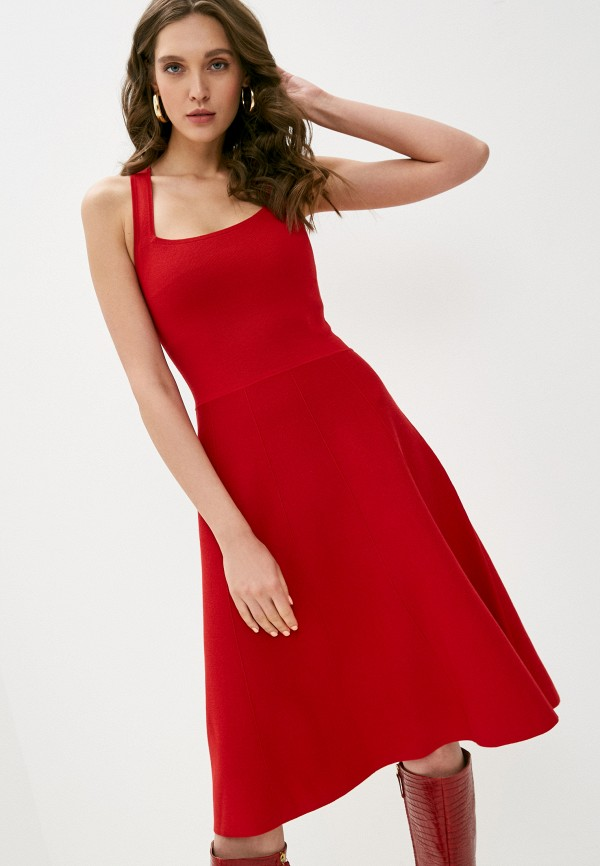 женское повседневные платье lauren ralph lauren, красное