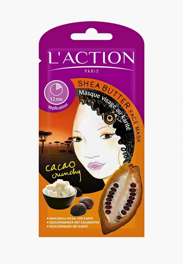Купить Маска для лица L'Action, с маслом ши Shea Butter, 12 г, LA087LWCJZA4, белый, Осень-зима 2018/2019