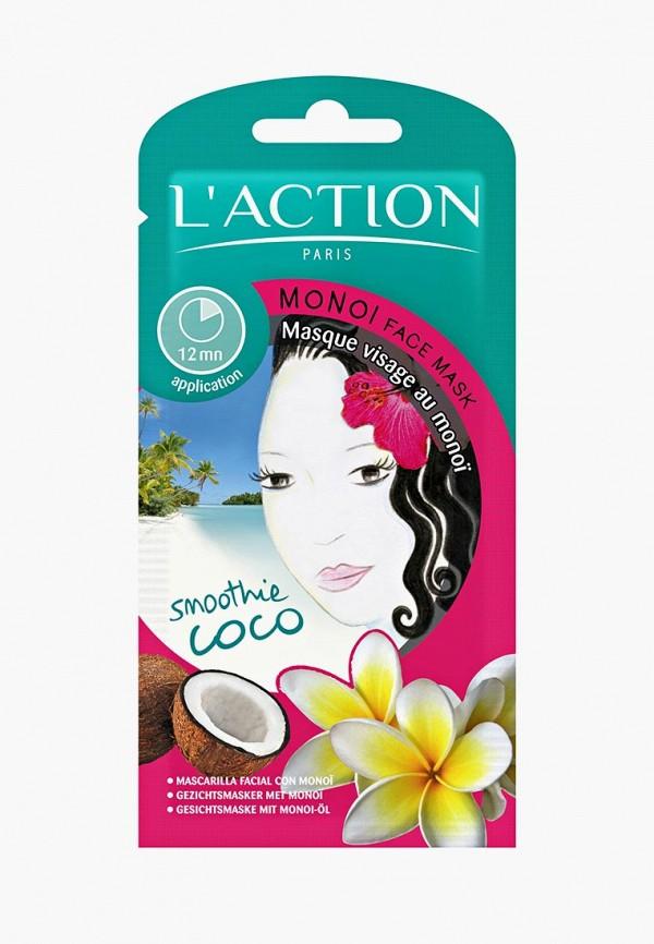 Купить Маска для лица L'Action, с маслом монои Monoi, 12 г, LA087LWCJZA5, белый, Осень-зима 2018/2019