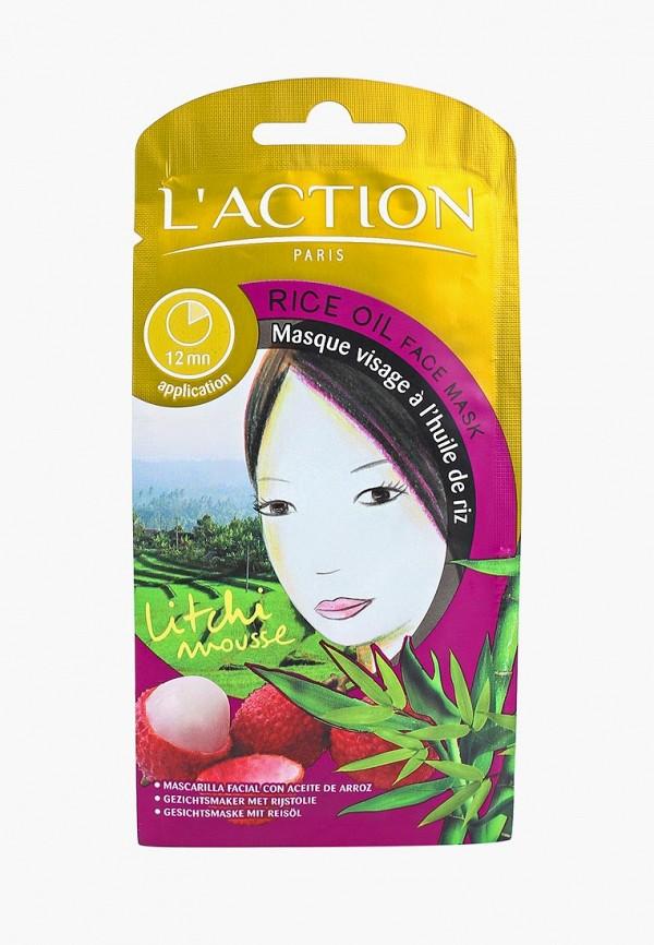 Купить Маска для лица L'Action, с рисовым маслом Rice Oil, 12 г, la087lwcjza7, белый, Осень-зима 2018/2019