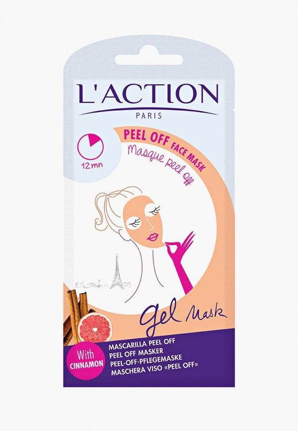Купить Маска для лица L'Action, отшелушивающая, Peel Off face mask, 10 г, LA087LWCJZA9, белый, Осень-зима 2018/2019