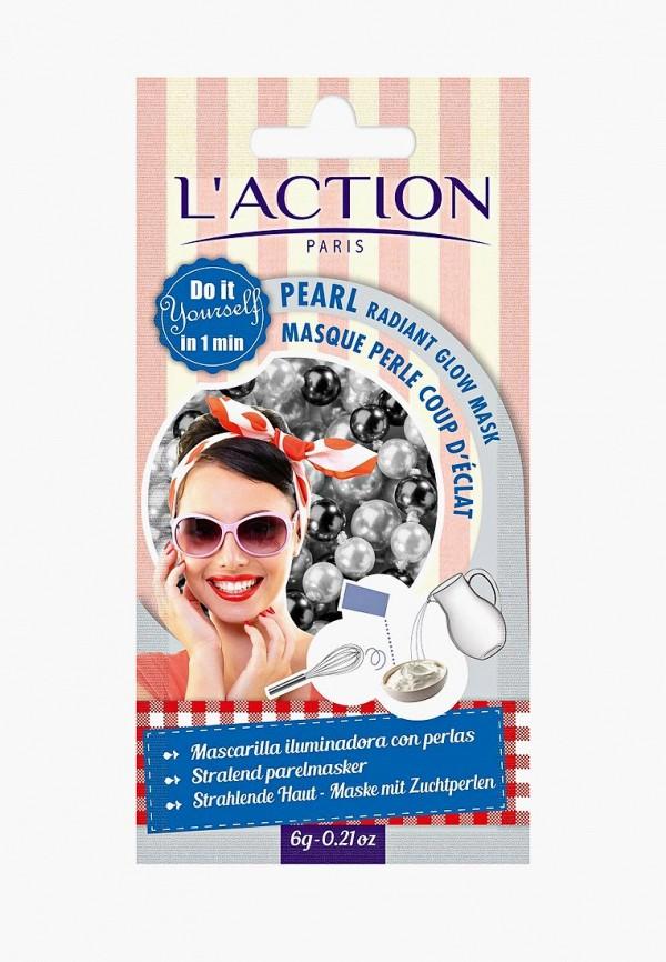 Купить Маска для лица L'Action, лифтинга на основе жемчуга, Pearl radiant glow mask, 6 г, LA087LWCJZB0, белый, Осень-зима 2018/2019