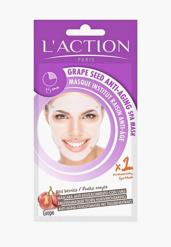 Купить Маска для лица L'Action, антивозрастная с экстрактом виноградных косточек, Grape Seed Anti-aging SPA Mask, 20 г, LA087LWCJZC4, прозрачный, Осень-зима 2018/2019