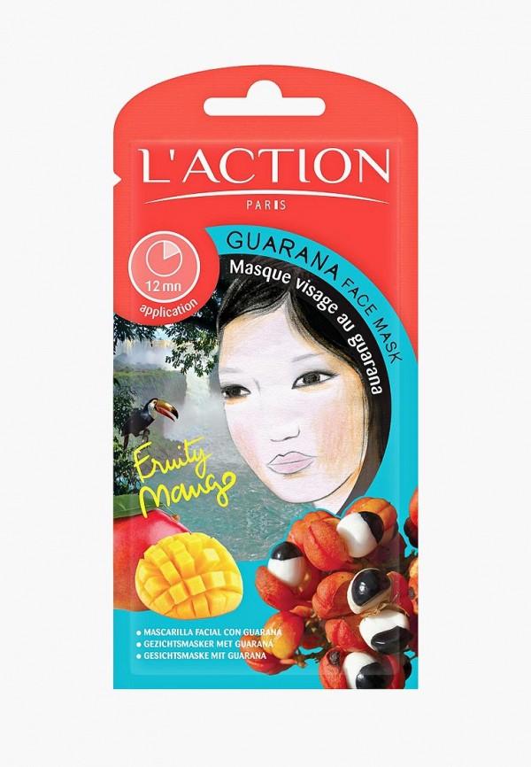 Купить Маска для лица L'Action, с экстрактом гуараны Guarana, 12 г, LA087LWCJZD4, прозрачный, Осень-зима 2018/2019