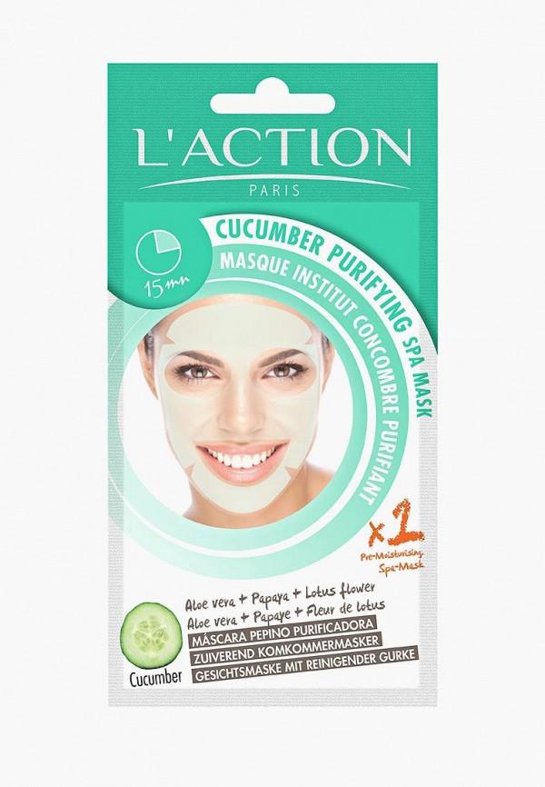 Купить Маска для лица L'Action, SPA огуречная очищающая Cucumber Purifying SPA Mask, 20 г, LA087LWVIU31, Весна-лето 2018