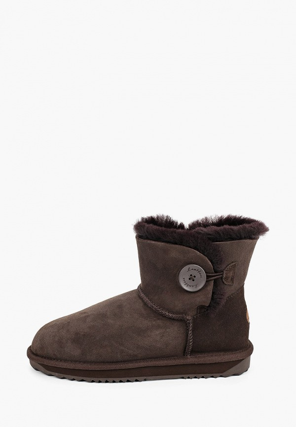 женские ботинки lambface, коричневые