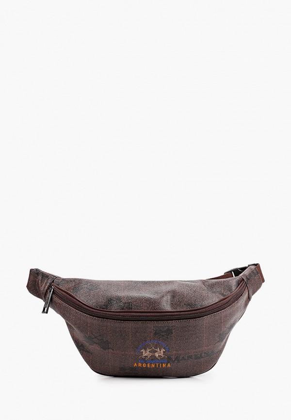 мужская сумка la martina, коричневая