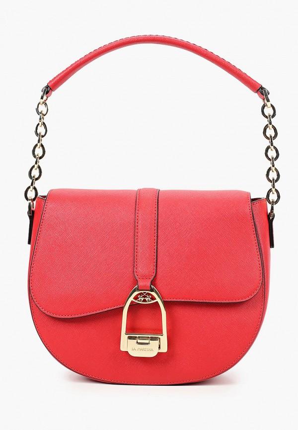 женская сумка la martina, красная