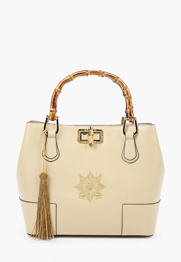 женская сумка la martina, бежевая
