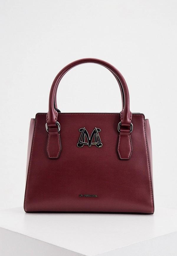 женская сумка la martina, бордовая