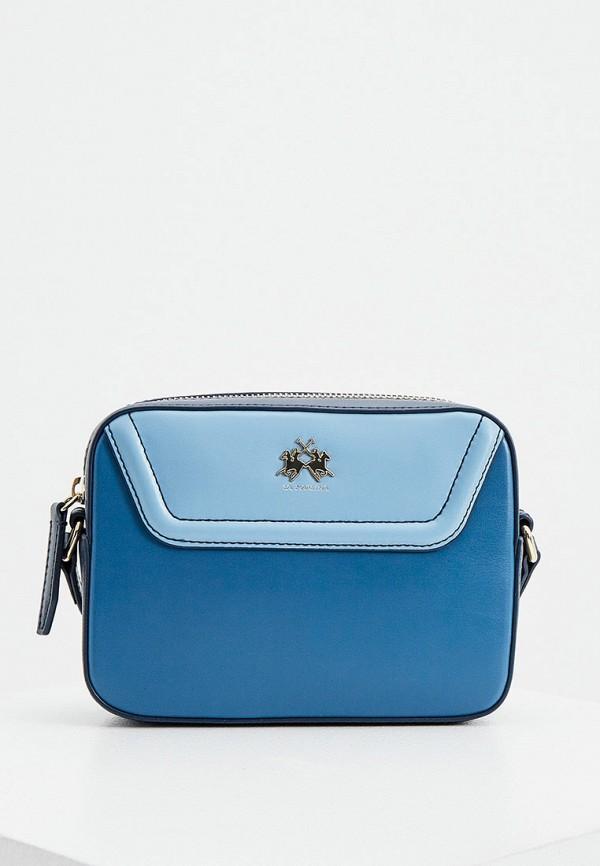 женская сумка la martina, синяя