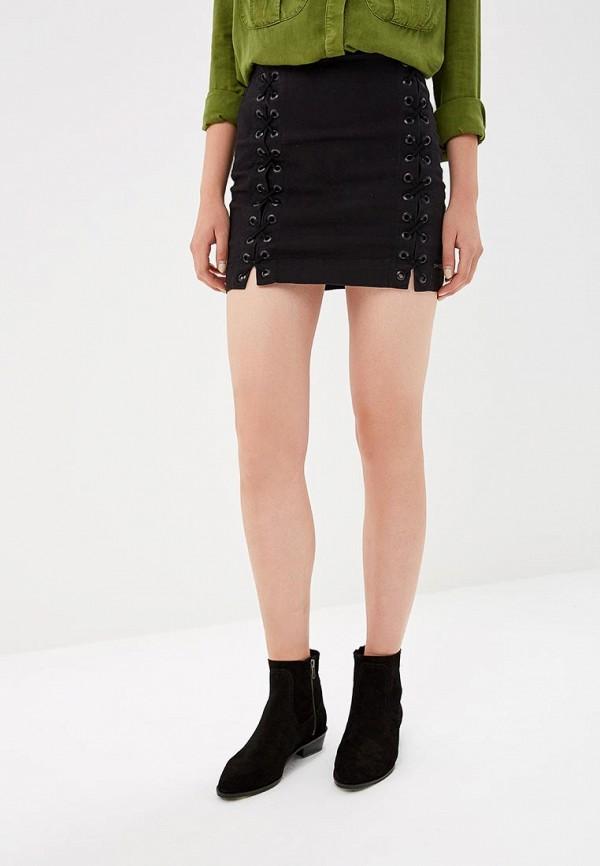 женская прямые юбка lança perfume, черная