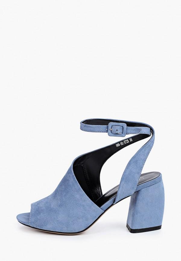 женские босоножки larossa, голубые