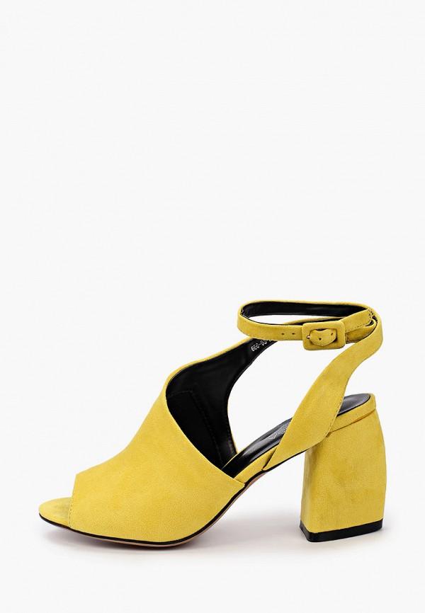 женские босоножки larossa, желтые