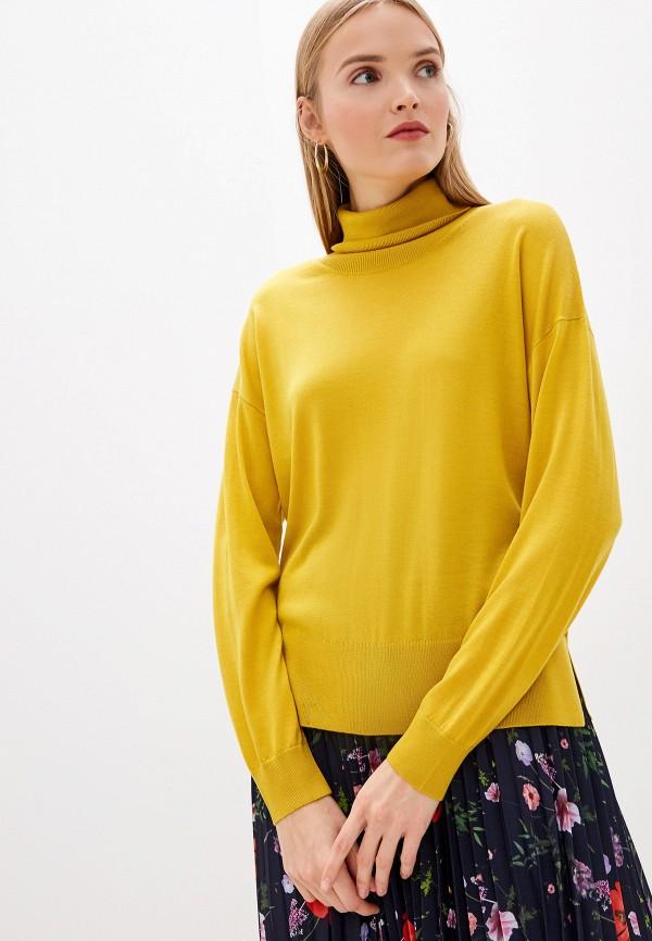 женская водолазка laurel, желтая