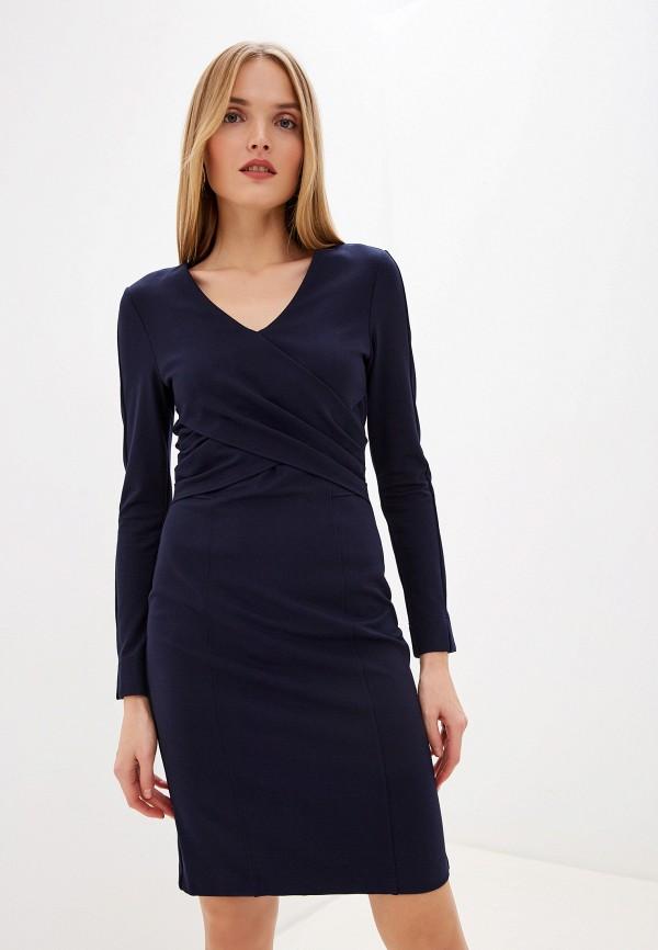 женское платье-футляр laurel, синее